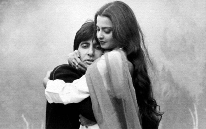 Rekha and Amitabh Bachchan.