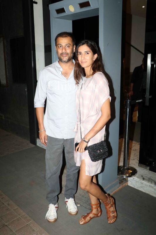 Abhihsek Kapoor arrived with his wife Pragya for the screening.