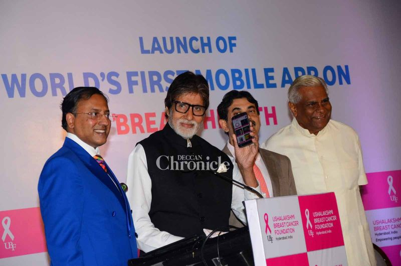 Bachchan while launching the app.