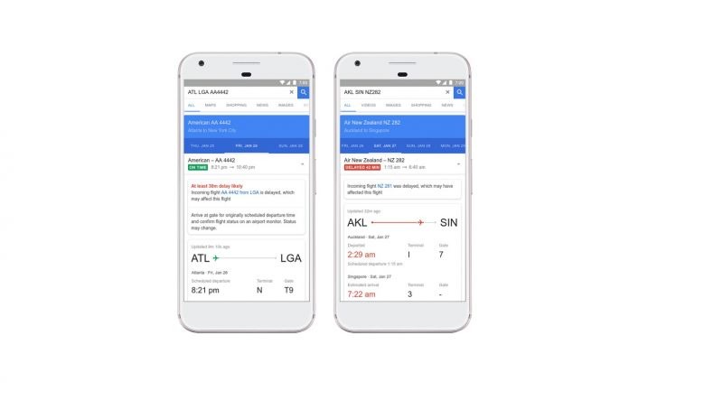 Google Flights now predicts airline delays