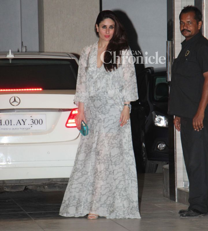 Kareena Kapoor Khan looked stunning as she arrived for the celebrations.