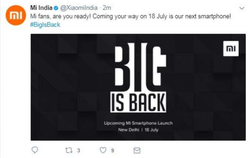 Xiaomi possibly teases the Mi Max 2 phablet for India launch