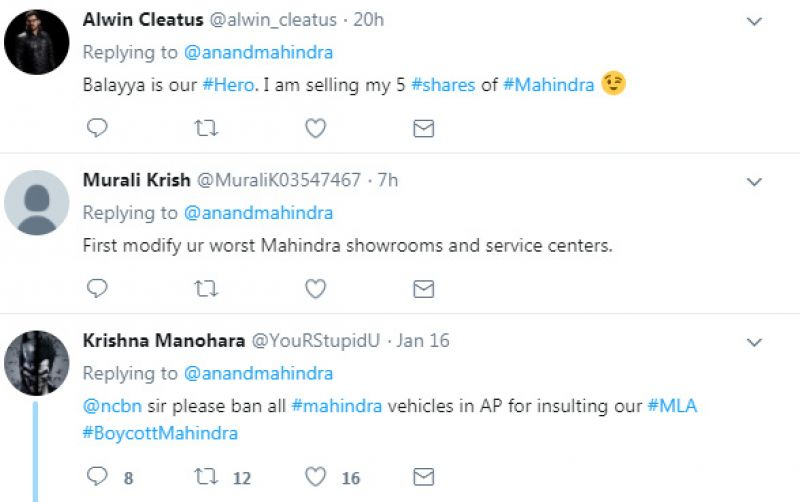 Anand Mahindra gets massively trolled for tweet on Balakrishna's car-lifting scene