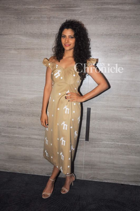 Saiyami Kher was snapped at the Dadasaheb Phalke Excellency Awards where she was felicitated.