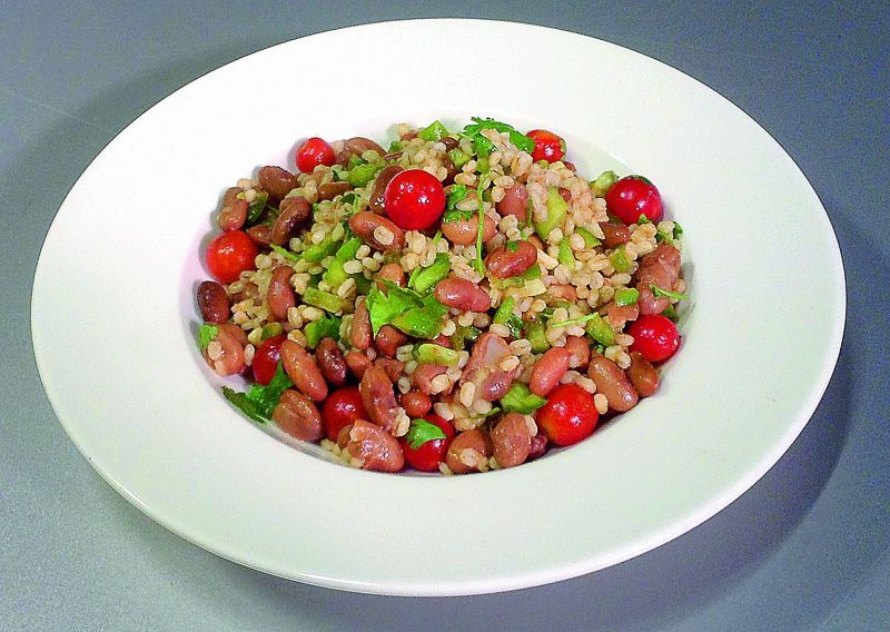 Barley and kidney bean salad