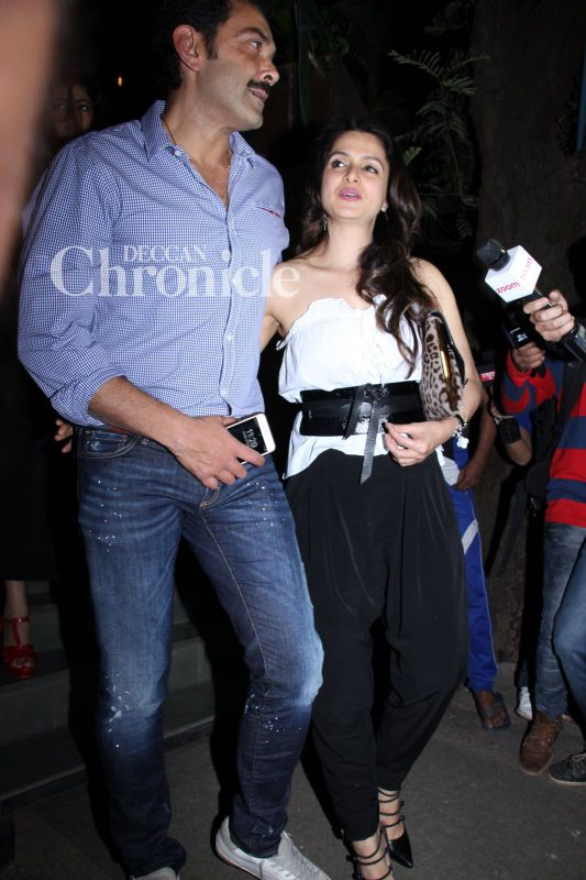 Bobby Deol and his wife Tanya were also seen in Bandra.