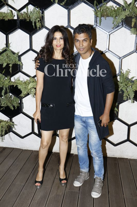 Vikram Phadnis and Rhea Pillai arrived together for the bash.