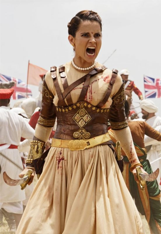 Kangana Ranaut as fierce Manikarnika: The Queen of Jhansi.