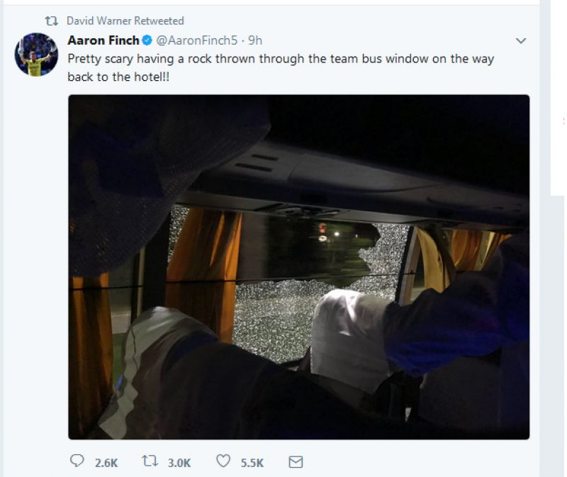 Australian Cricket Team Bus Attacked as Aussies thrash India in the Second T20I at Guwahati
