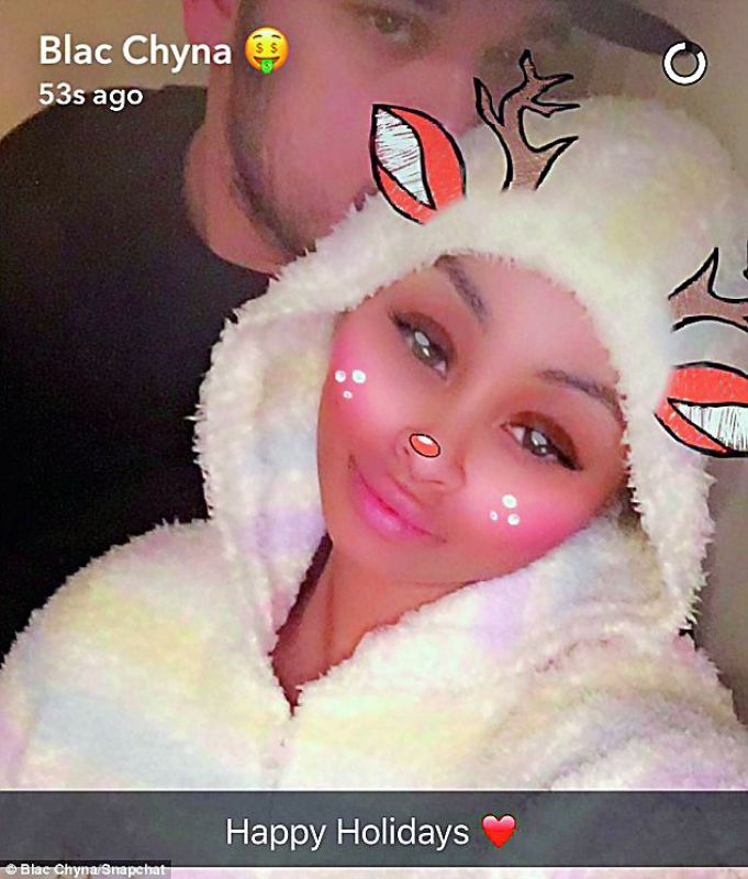 Blac Chyna and Rob Kardashian Hint at Reconciliation With Happy Holiday Photos