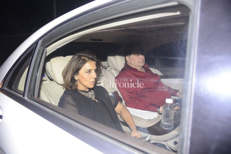 His parents, Rishi and Neetu Kapoor were also seen arriving for the bash.