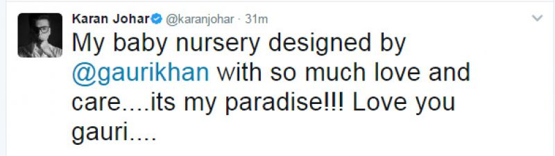 Gauri Khan designs nursery for Karan Johar's babies and it's too adorable!