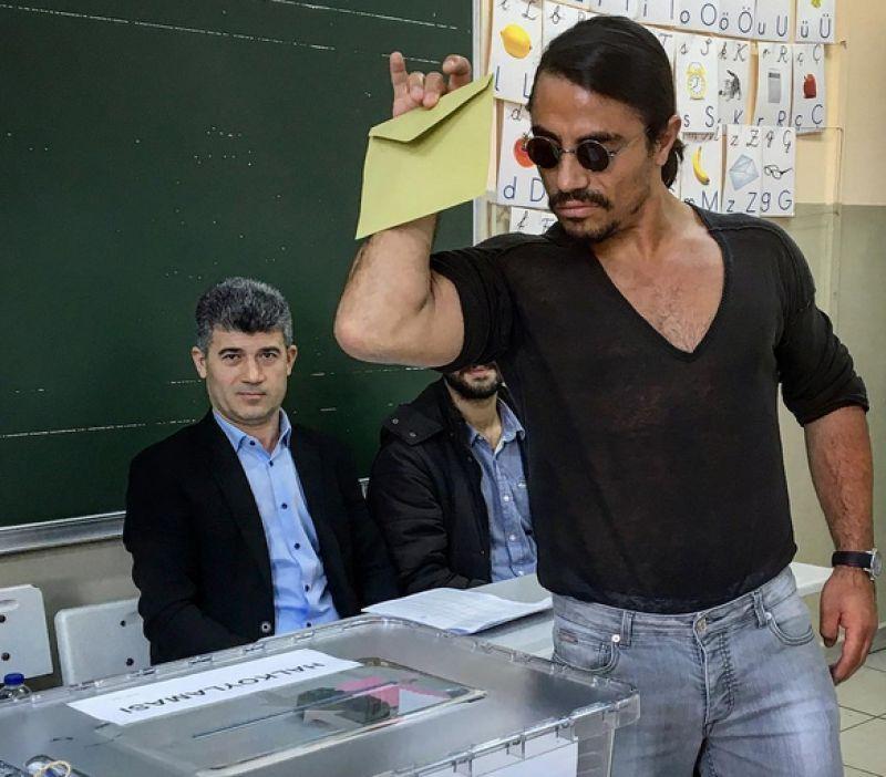 Internet sensation Salt Bae recently cast his vote in the Turkey elections just like he sprinkled salt and the internet still loves it.