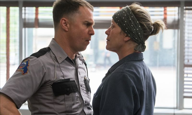 Sam Rockwell and Frances McDormand in the still from 'Three Billboards Outside Ebbing, Missouri'.