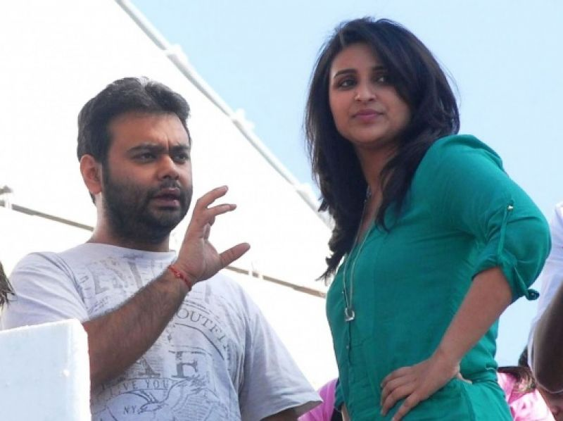 Parineeti Chopra and Maneesh Sharma spotted in a candid pose.