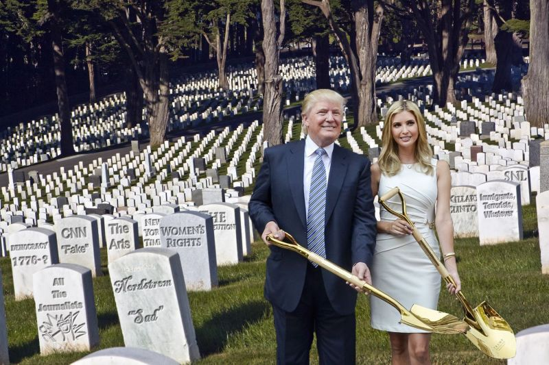 Photoshop pros have clearly stated their sentiments with this graveyard picture.