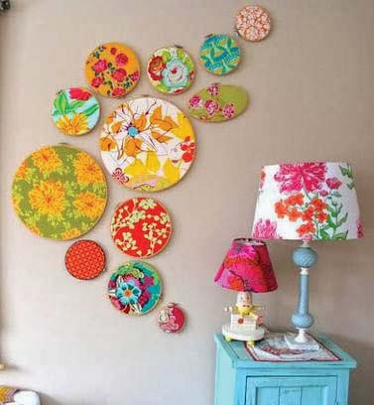 Hoops and textiles can brighten up dull corners