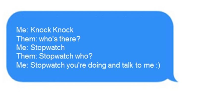 The knock knock joke
