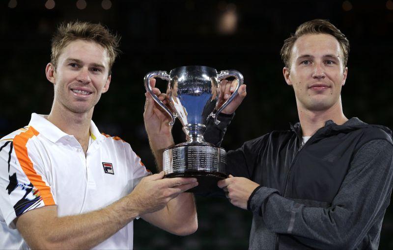 John Peers of Australia and Henri Kontinen of Finland won the men's doubles title. (Photo: AP)