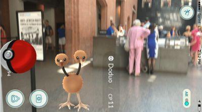 Pokemon appearing at the Holocaust Museum in Washington (Photo Courtesy: Washington Post)