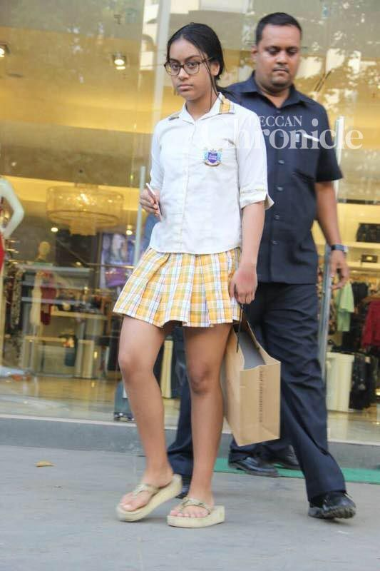 Her daughter Nysa was also seen along with her.