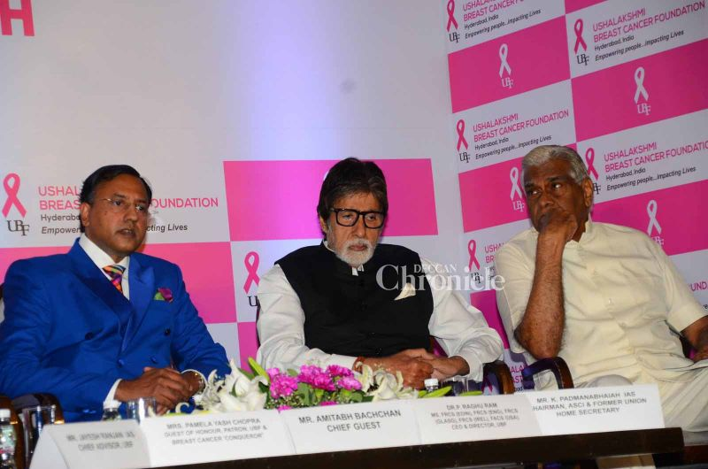 The megastar was seated with distinguished persons from the field at the event.