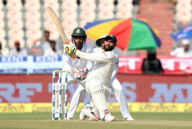 Ravindra Jadeja: Six wickets, 76 runs and a catch – Ravindra Jadeja played his role of an all-rounder to perfection. He scored a quickfire sixty in the first innings and scalped four wickets in Bangladesh's second innings as India pressed for victory at the Rajiv Gandhi International Stadium. While Kohli had lost his cool on Jadeja once for his poor throw, the captain would have been extremely happy with Jadeja's overall performance in the Test.  (Photo: BCCI)