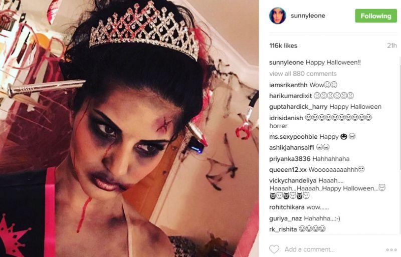 Sunny Leone Halloween celebrations
