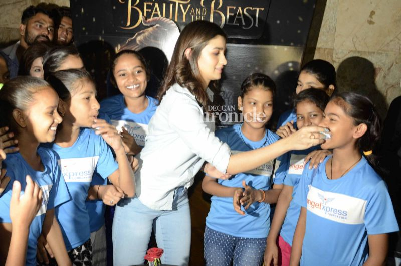 The kids would have loved to meet a star like Alia.