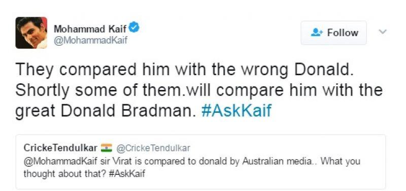 Mohammad Kaif, Donald Trump, Virat Kohli