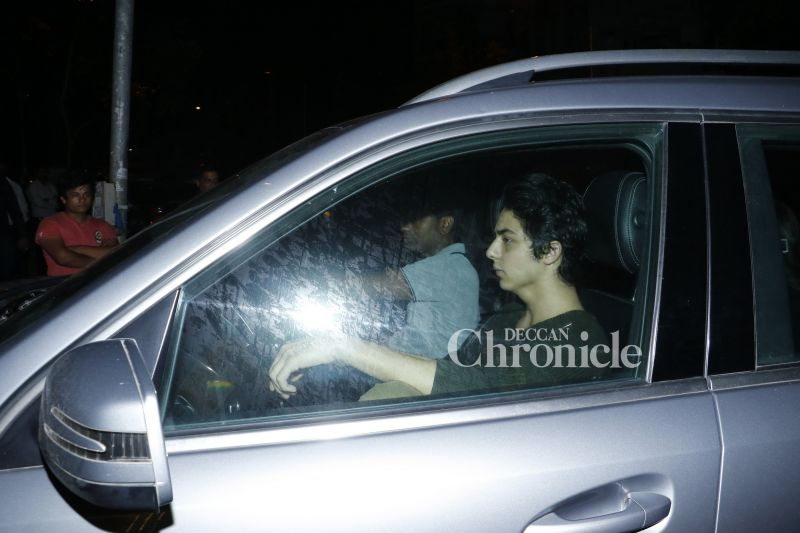 Shah Rukh's son Aryan Khan was also snapped arriving for the event, but did not pose for the cameras.
