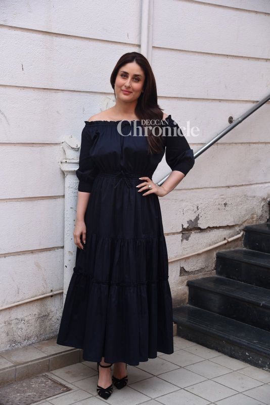 Kareena Kapoor Khan was snapped when she stepped out for a Facebook live session with her dietician.