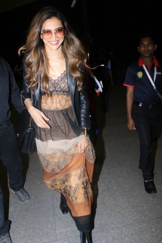 The actress was all smiles as she was snapped at the airport leaving for Cannes on Sunday.
