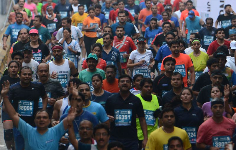 People turned out in huge numbers to take part in the Mumbai Marathon. (Photo: DC/ Rajesh Jadhav)