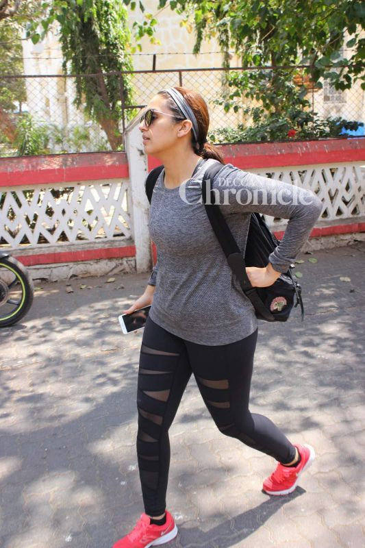 Huma Qureshi was snapped in Bandra.