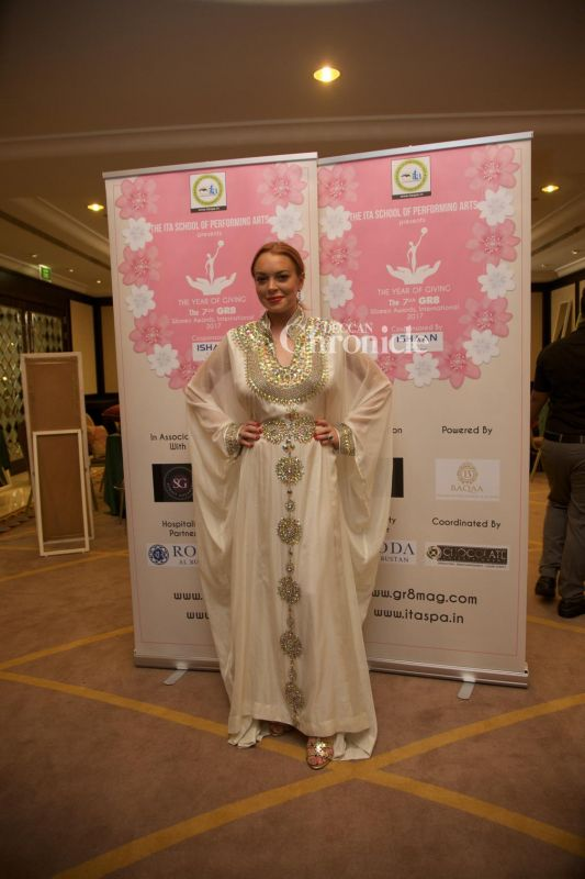 Hollywood actress Lindsay Lohan also arrived in India for the event.