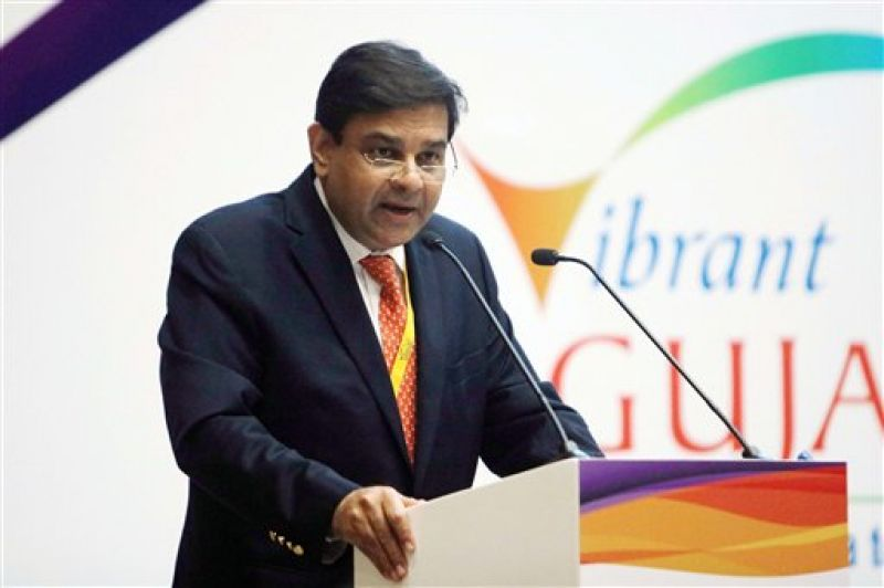 Gandhinagar: Governor of the Reserve Bank of India (RBI) Urjit Patel addresses during the second day of Vibrant Sumit 2017 Seminar at Mahatma Mandir, Gandhinagar on Wednesday. (Photo: PTI)