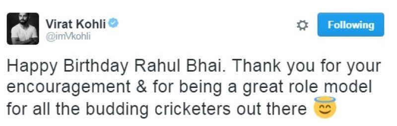 Rahul Dravid, Virat Kohli