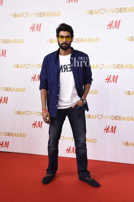 Her 'Baahubali' co-star Rana Daggubati was also spotted at the event.