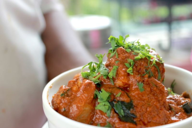 Chicken curry made in Malnad Cuisine style (