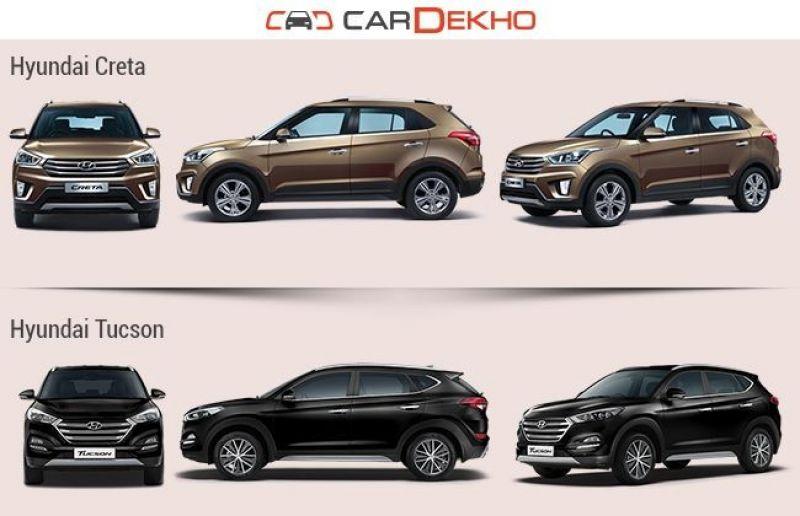 Tucson Dimensions 2017 >> Hyundai Creta Vs Hyundai Tucson Vs Hyundai Santa Fe