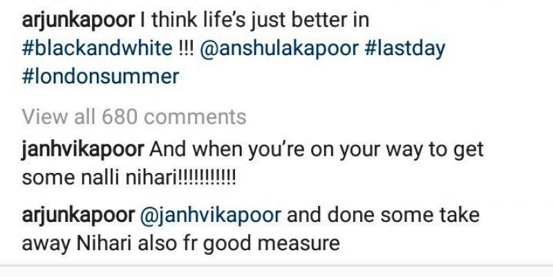 Arjun Kapoor's Instagram post.