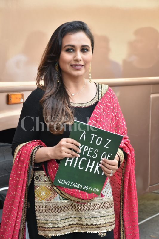 Rani Mukerji at 'Hichki' promotions.