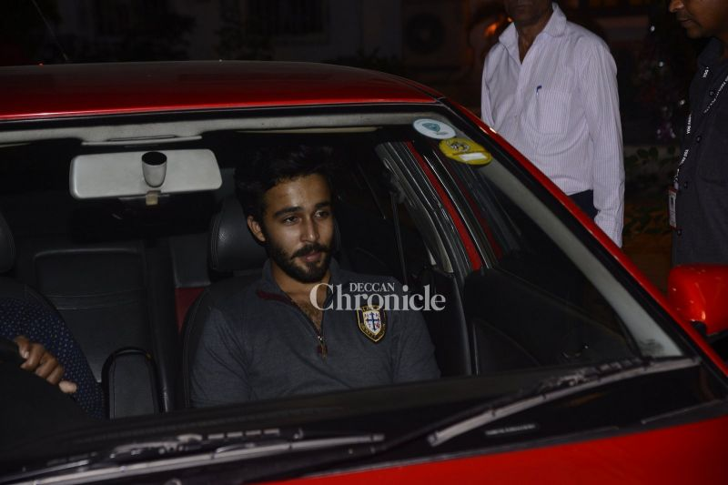 Armaan's brother Aadar was also spotted making his way for the bash.