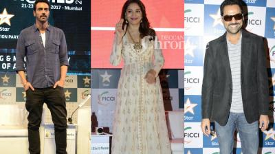 Several Bollywood stars were spotted on the last day of the FICCI Frames event held in Mumbai on Thursday. (Photo: Viral Bhayani)