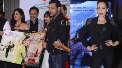 Salman Khan's rumoured girlfriend Iulia Vantur was spotted at the music launch of Mahesh Manjrekar's film 'Rubik's Cube' on Wednesday. (Photo: Viral Bhayani)