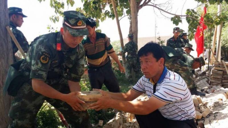 Strong quake shakes remote far-western China