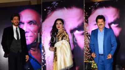 Shah Rukh Khan, Rekha and Udit Narayan.
