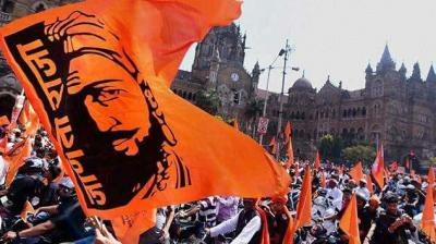 Lakhs of people from across Maharashtra are part of a protest march in Mumbai on Wednesday, seeking reservations in jobs and education for the Maratha community. (Photo:Twitter)