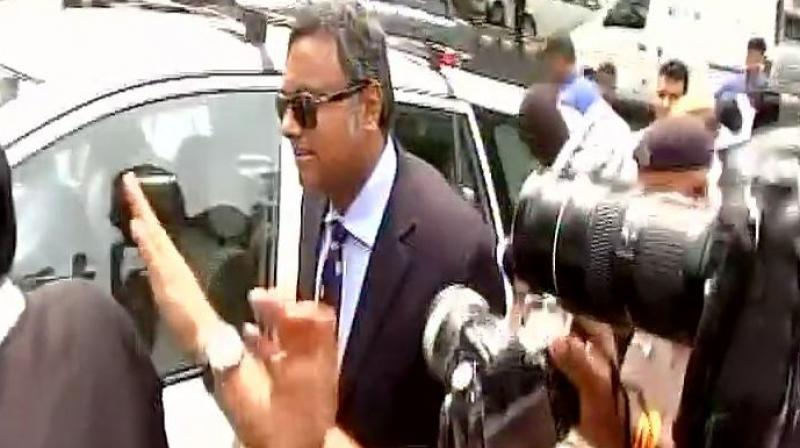 Following SC's directive, Karti Chidambaram arrives at CBI office
